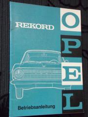 Opel Rekord Betriebsanleitung