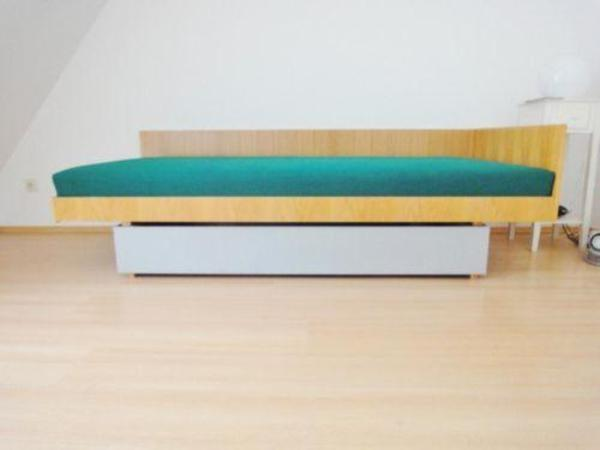 Original 60er jahre design bett 90 x 200 mit matratze for Bett 60er jahre