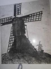 Otto Warnke Radierung