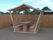 Pavillon.Gartenmöbel.Überdachte