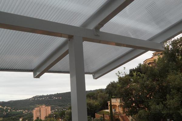 pcsdach alu balkon berdachung mit dach berstand ab eur 1. Black Bedroom Furniture Sets. Home Design Ideas