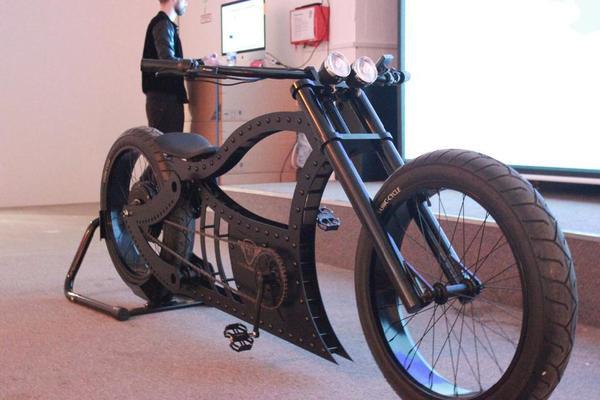 pedelec fahrrad cruiser chopper ebike harley in fuchsm hle. Black Bedroom Furniture Sets. Home Design Ideas