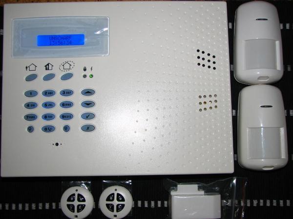 profi funk alarmanlage 868 mhz set neu mit telefon pstn. Black Bedroom Furniture Sets. Home Design Ideas