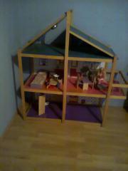 Puppenhaus teilmöbiliert 6
