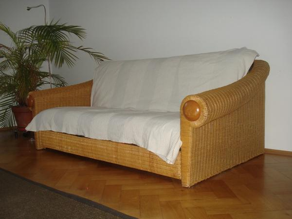 rattan schlafsofa bereits abgeholt in m nchen polster sessel couch kaufen und verkaufen. Black Bedroom Furniture Sets. Home Design Ideas