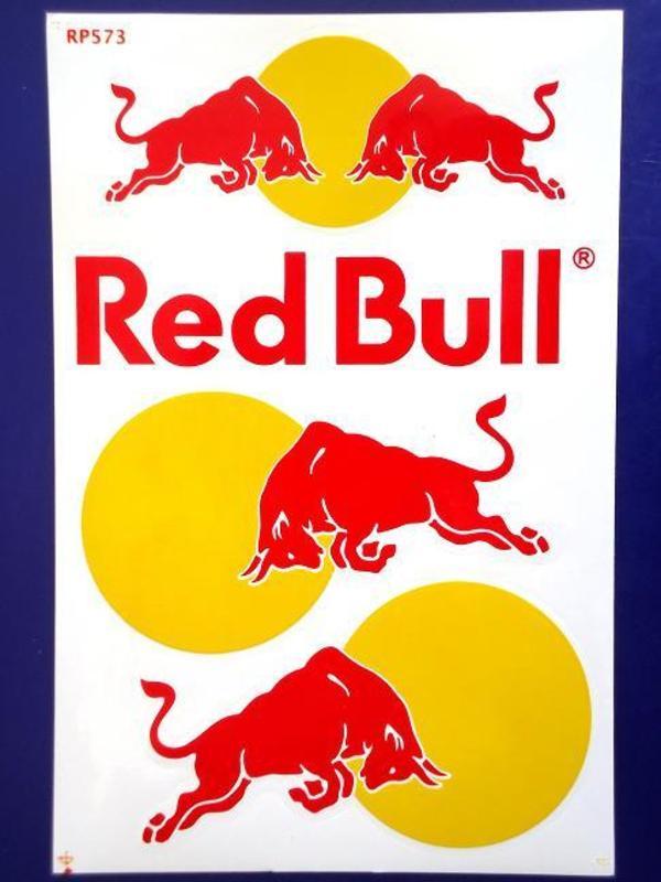 red bull aufkleber sticker bogen 18 cm x 27 cm rc. Black Bedroom Furniture Sets. Home Design Ideas