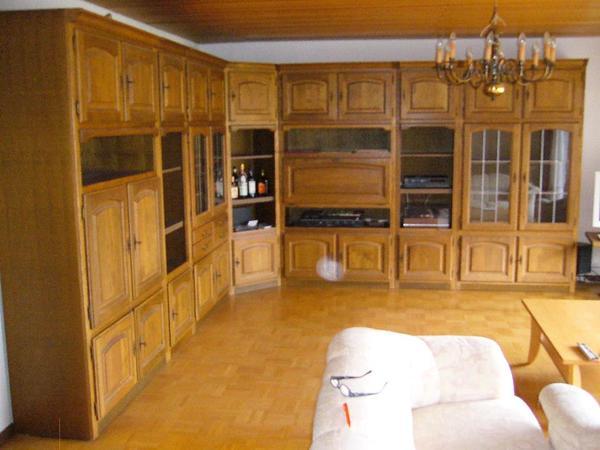 riesige schrankwand von mann mannmobilia eiche rustikal wohnwand in hohberg wohnzimmerschr nke. Black Bedroom Furniture Sets. Home Design Ideas