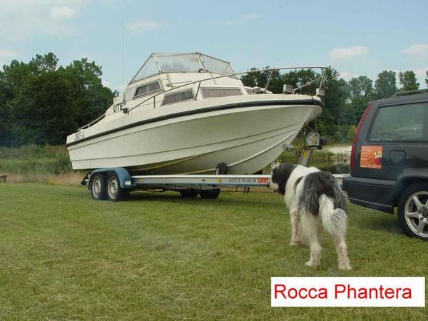rocca panthera kaj tboot mit einem safety trailer vario in. Black Bedroom Furniture Sets. Home Design Ideas