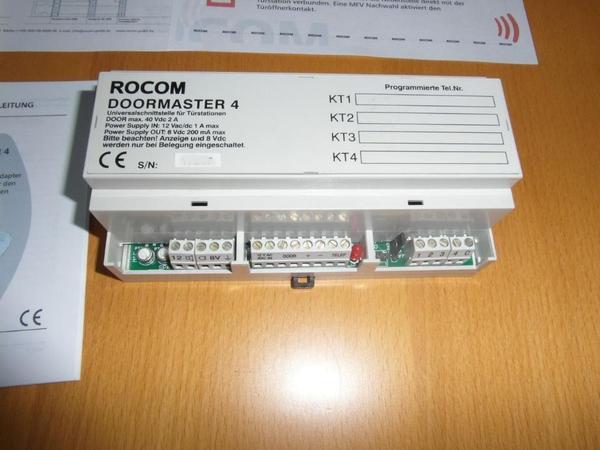 rocom doormaster 4 adapter t rsprechanlage ber telefon in r desheim am rhein. Black Bedroom Furniture Sets. Home Design Ideas