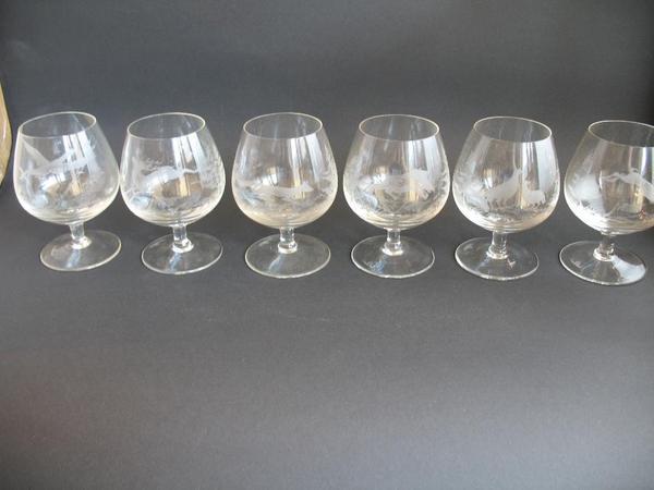 rosenthal cognac gl ser klein 6 st ck mit sch nem. Black Bedroom Furniture Sets. Home Design Ideas