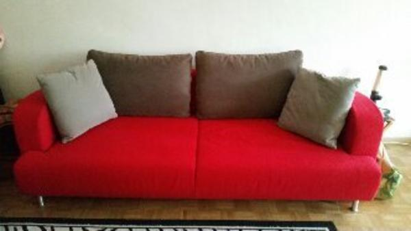 rotes federkern sofa mit bett kasten in stuttgart polster sessel couch kaufen und verkaufen. Black Bedroom Furniture Sets. Home Design Ideas