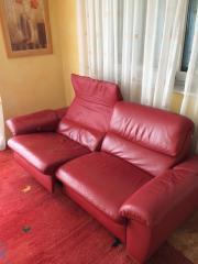 Rotes Sofa Leder