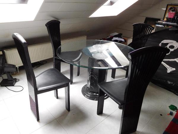 glastisch schwarzem neu und gebraucht kaufen bei. Black Bedroom Furniture Sets. Home Design Ideas