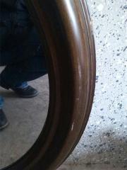 großer spiegel holzrahmen