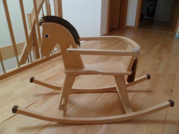 holz schaukelpferd von geuther. Black Bedroom Furniture Sets. Home Design Ideas