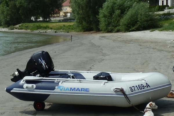schlauchboot 330 mit 15 ps motor f hrerscheinfrei in. Black Bedroom Furniture Sets. Home Design Ideas