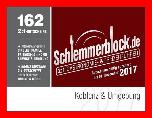schlemmerblock 2017 koblenz umgebung ab 12 45 eur st ck essen und trinken kaufen und. Black Bedroom Furniture Sets. Home Design Ideas