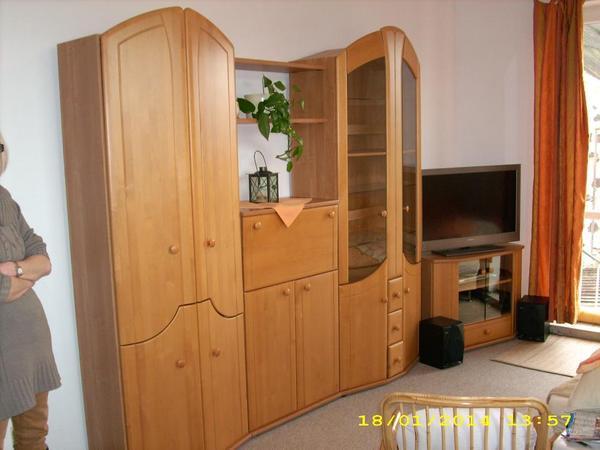 schrankwand atlanta erle teilmassiv in limburg wohnzimmerschr nke anbauw nde kaufen und. Black Bedroom Furniture Sets. Home Design Ideas