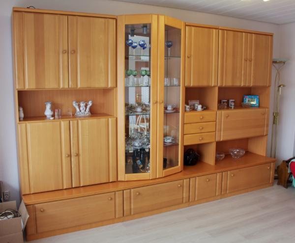Schrankwand kirsche gebraucht interessante for Schrankwand wohnzimmer klassisch