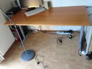 Schreibtisch 80x160 Holzplatte