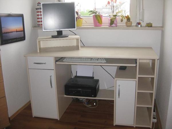 Wei schreibtisch wei neu und gebraucht kaufen bei for Schreibtisch ausfahrbar