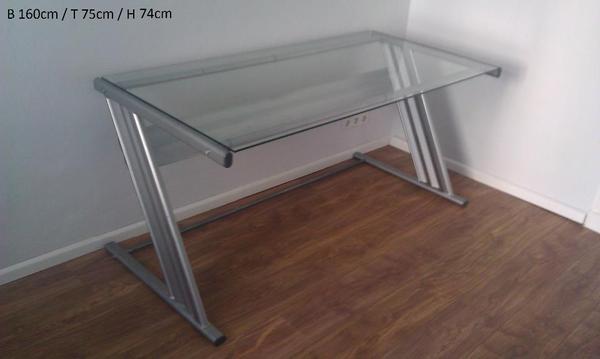 glas schreibtisch neu und gebraucht kaufen bei. Black Bedroom Furniture Sets. Home Design Ideas