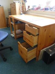 Schreibtisch, Kiefer massiv