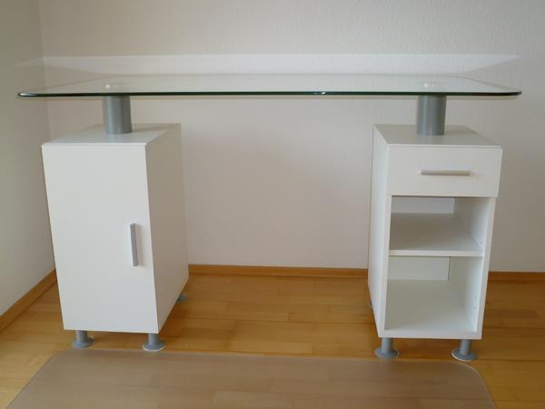 schreibtisch glasplatte neu und gebraucht kaufen bei. Black Bedroom Furniture Sets. Home Design Ideas