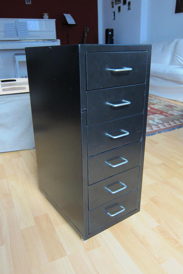 schubladenelement aufbewahrung auf rollen in schwarz in berlin ikea m bel kaufen und. Black Bedroom Furniture Sets. Home Design Ideas