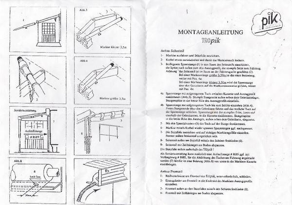 seitenteil f r markise in dettenheim campingartikel kaufen und verkaufen ber private. Black Bedroom Furniture Sets. Home Design Ideas