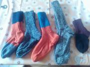 selbst gestrickte Socken