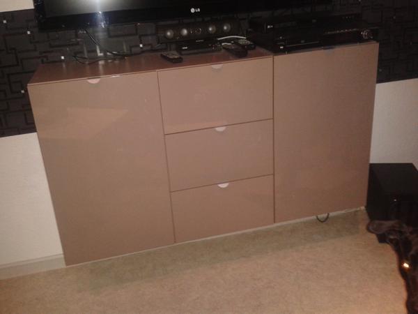 sideboard mocca hochglanz in frankenthal. Black Bedroom Furniture Sets. Home Design Ideas