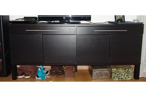 sideboard schwarz in n rnberg ikea m bel kaufen und. Black Bedroom Furniture Sets. Home Design Ideas