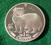 Silbermünze 1 Crown