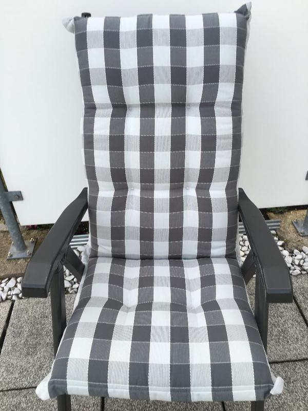 sitzauflagen polster fa balke 4 st ck f klappsessel hochlehner neuwertig in wangen. Black Bedroom Furniture Sets. Home Design Ideas
