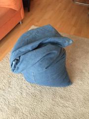Sitzsack aus Jeansstoff