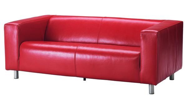 sofa ikea klippan echtleder rot in heroldsberg polster sessel couch kaufen und verkaufen. Black Bedroom Furniture Sets. Home Design Ideas