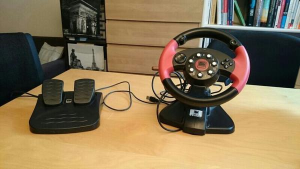 speedlink lenkrad pedale f r den pc in mannheim joystick. Black Bedroom Furniture Sets. Home Design Ideas