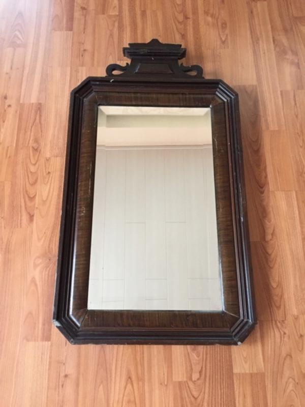 spiegel mit holzrahmen in schwarzenbruck garderobe flur. Black Bedroom Furniture Sets. Home Design Ideas