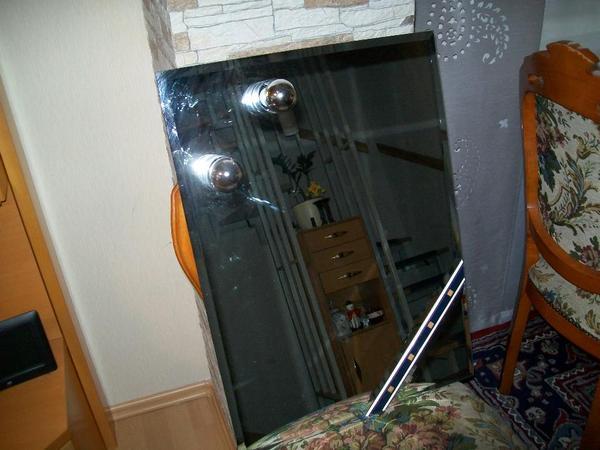 spiegel mit zwei lampen in ubstadt weiher garderobe. Black Bedroom Furniture Sets. Home Design Ideas