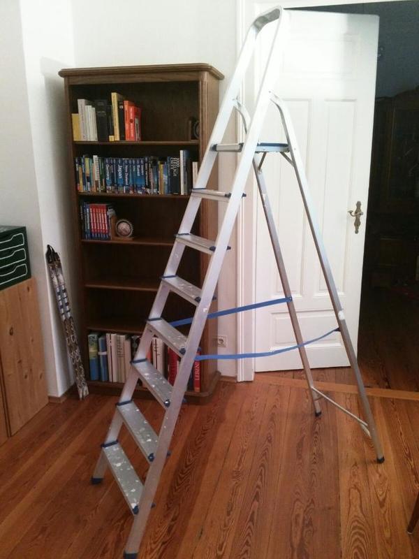stehleiter 8 stufen standleiter aluleiter in heidelberg sonstiges material f r den hausbau. Black Bedroom Furniture Sets. Home Design Ideas