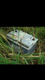Suche alte Autobatterie