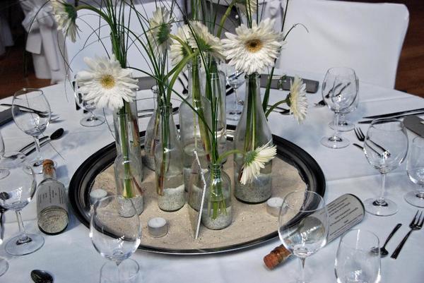 Tablett Deko Tischdeko Maritim Flaschenpost Hochzeit