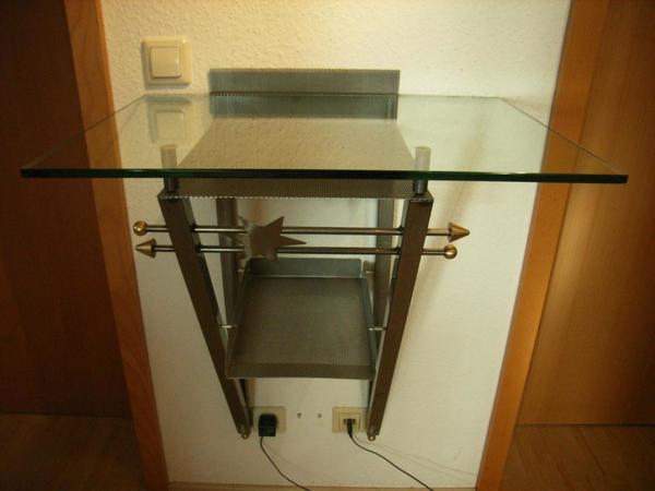 Telefonablage wandtisch zeitungsablage dielentisch glas for Gebrauchte garderobe