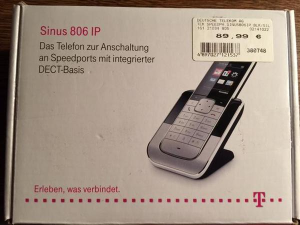 telekom telefon sinus 806 ip in zirndorf schnurlose telefone kaufen und verkaufen ber private. Black Bedroom Furniture Sets. Home Design Ideas