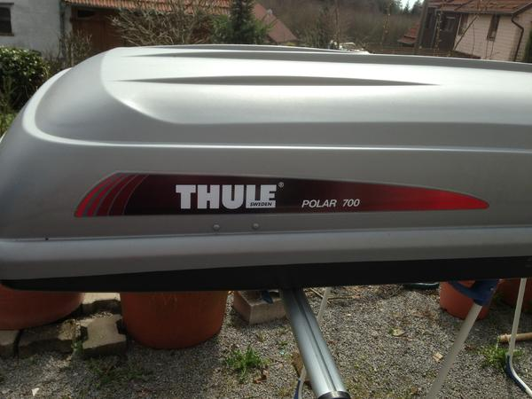 thule dachbox polar 700 in waldbrunn fahrrad. Black Bedroom Furniture Sets. Home Design Ideas