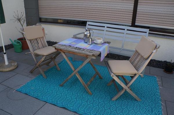 Gartenmöbel der Firma Sonnenpartner Gartenmöbel Material Teakholz