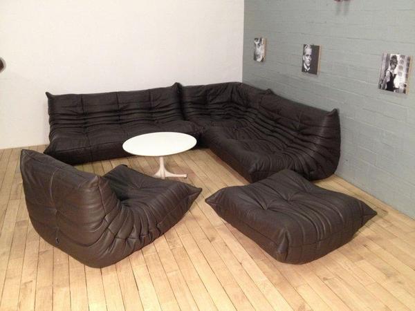 togo ligne roset echtes anilinleder indiana in hilter polster sessel couch kaufen und. Black Bedroom Furniture Sets. Home Design Ideas