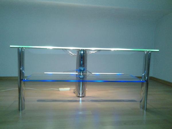 TVReckLowboard aus Glas mit LED Beleuchtung in Mannheim  -> Tv Lowboard Quoka Mannheim