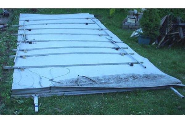 berdach dach wetterschutz schmutzschutz f r wohnwagen in. Black Bedroom Furniture Sets. Home Design Ideas